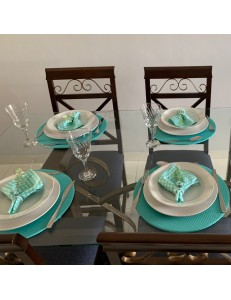 Kit Mesa Posta Tiffany 3 peças