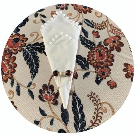 Kit Mesa Posta 14 peças Azul Rústica e Floral