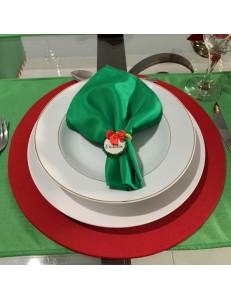 Kit Mesa Posta 20 peças Natal Verde e Vermelho