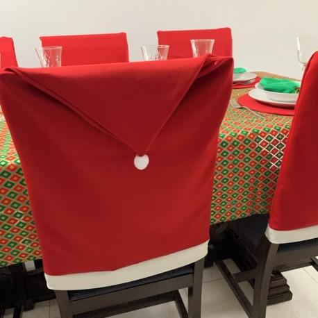 Capa de Cadeira Gorro do Papai Noel