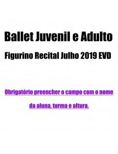 Saia Ballet Juvenil e Adulto Figurino Recital Julho 2019